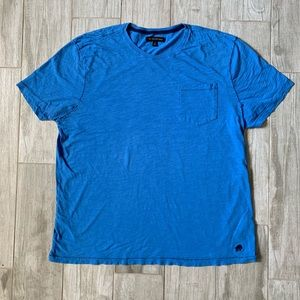 MENS BANANA REPUBLIC BLUE COTTON SHORT SLEEVE TEE